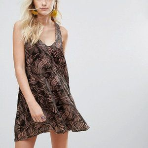 Free People Ellie velour minidress (S)